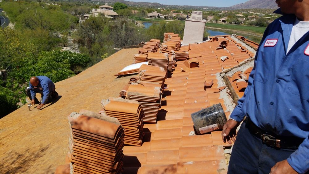 Emergency help Wildcats Roofing LLC clay tile roof