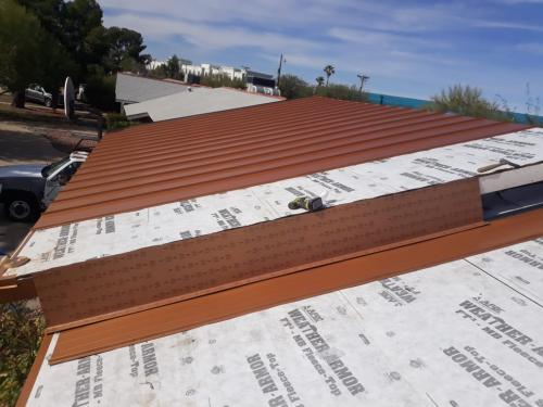Standing seam metal roof Copper Penny 2
